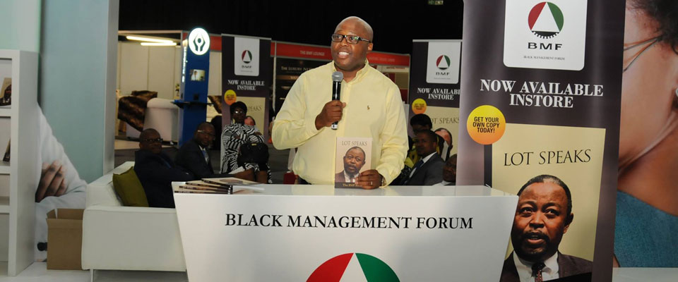 Our President Mncane Mthunzi at the Launch of the book 'Lot Speaks'